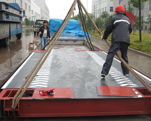 有基坑地磅安装 - 浙江红牌智能电器制造有限公司