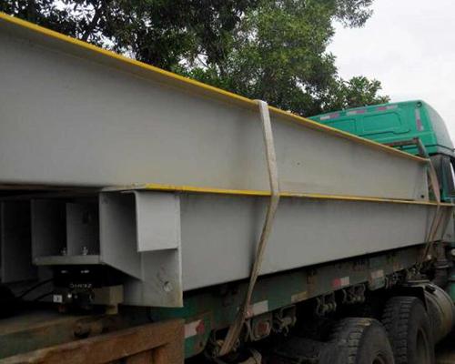 海南鑫星光矿业SCS-100T全数字汽车衡地磅安装现场